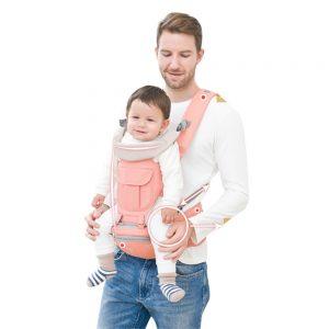 Ergonomic Baby Carrier Adjustable Backpack Infant Hip Seat Born Breathable (1)