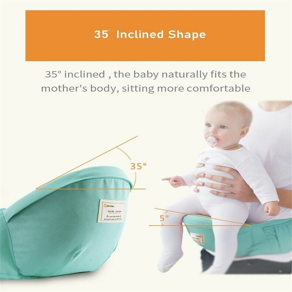 Ergonomic Baby Carrier Adjustable Backpack Infant Hip Seat Born Breathable (12)