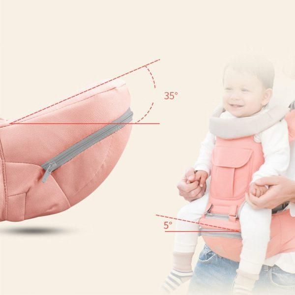 Ergonomic Baby Carrier Adjustable Backpack Infant Hip Seat Born Breathable (2)
