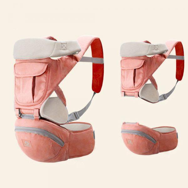 Ergonomic Baby Carrier Adjustable Backpack Infant Hip Seat Born Breathable (3)