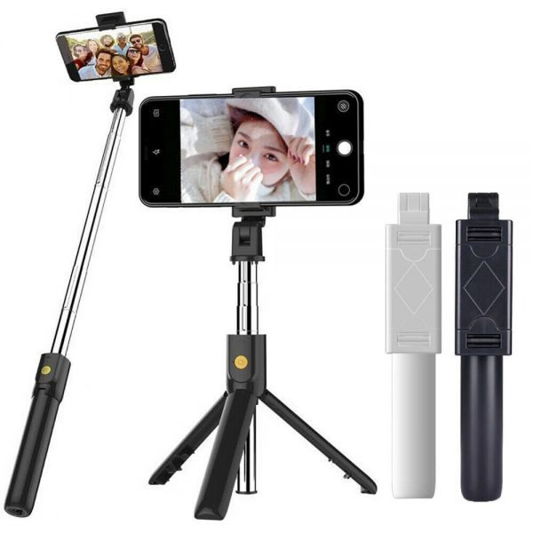 Extendable Selfie Stick Tripod For Any Cell Bluetooth Remote Free Shipping Uk (18)