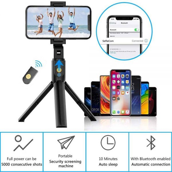 Extendable Selfie Stick Tripod For Any Cell Bluetooth Remote Free Shipping Uk (5)