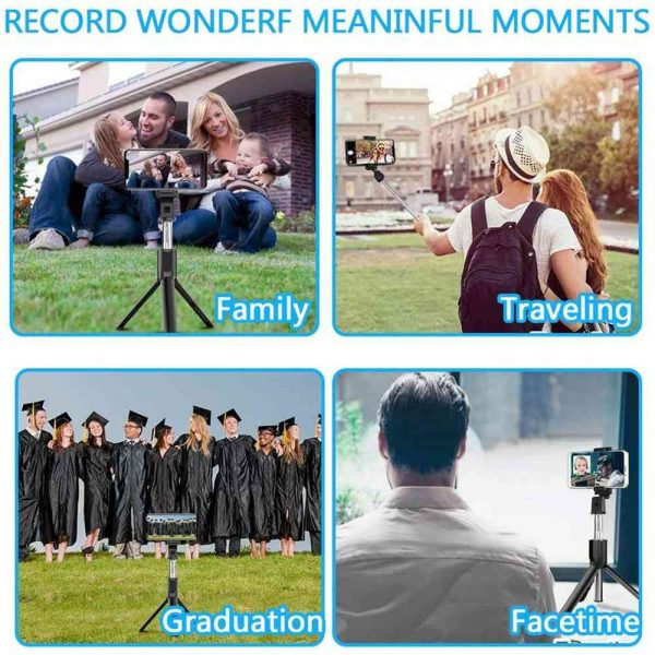 Extendable Selfie Stick Tripod For Any Cell Bluetooth Remote Free Shipping Uk (7)