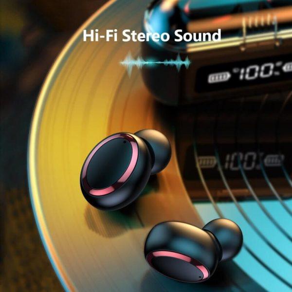 Fingerprint Touch Smart Headset In Ear Headphone Stereo Hifi Earphone Wireless Waterproof Headset (1)