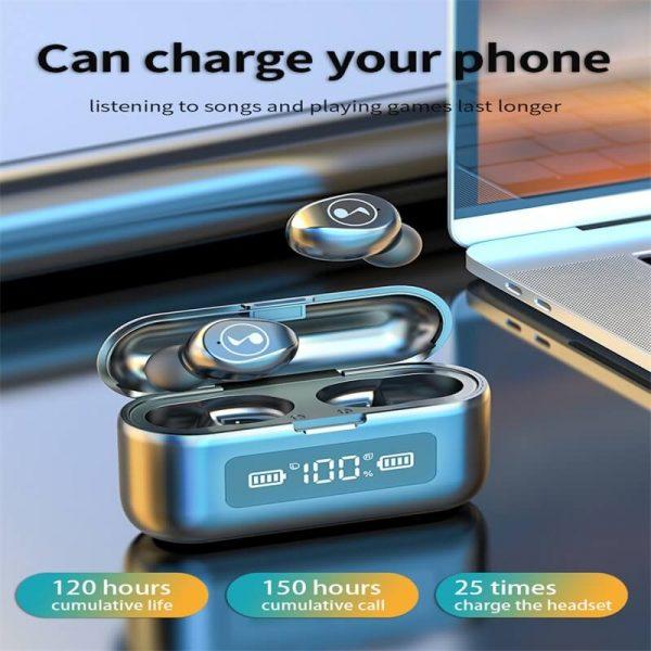 Fingerprint Touch Smart Headset In Ear Headphone Stereo Hifi Earphone Wireless Waterproof Headset (2)
