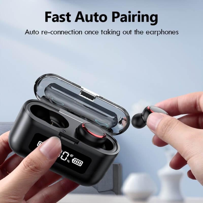 Fingerprint Touch Smart Headset In Ear Headphone Stereo Hifi Earphone Wireless Waterproof Headset (20)
