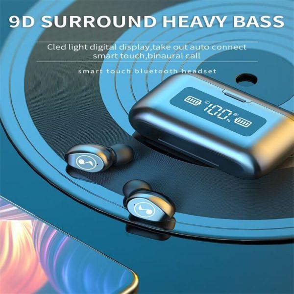 Fingerprint Touch Smart Headset In Ear Headphone Stereo Hifi Earphone Wireless Waterproof Headset (3)