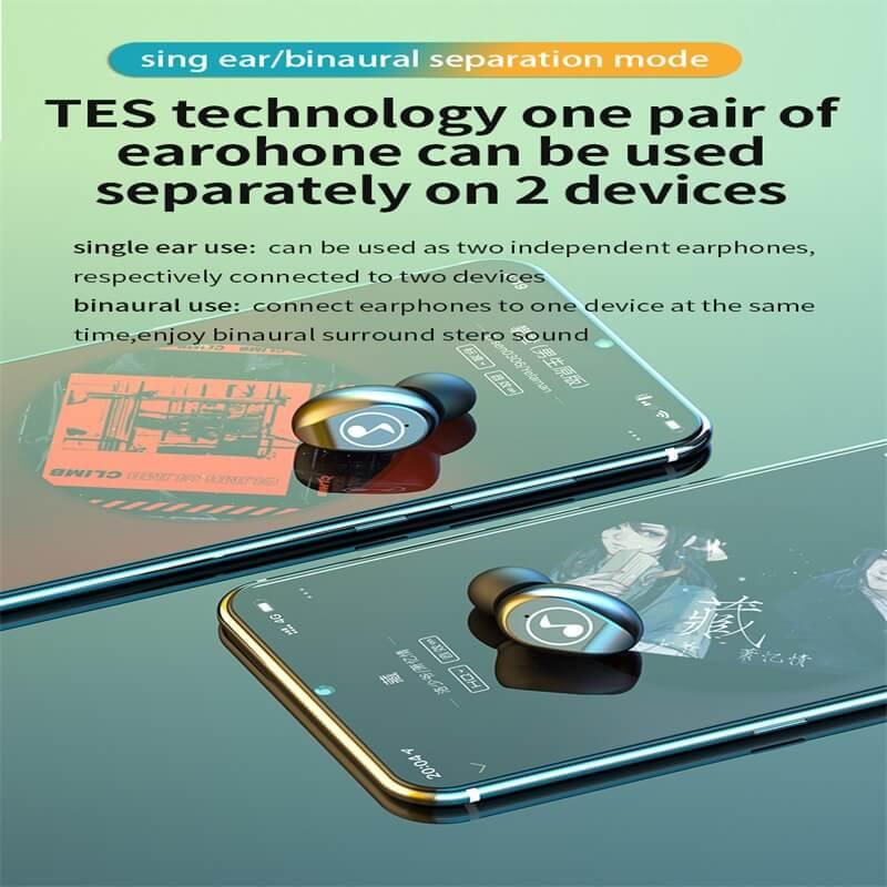 Fingerprint Touch Smart Headset In Ear Headphone Stereo Hifi Earphone Wireless Waterproof Headset (4)