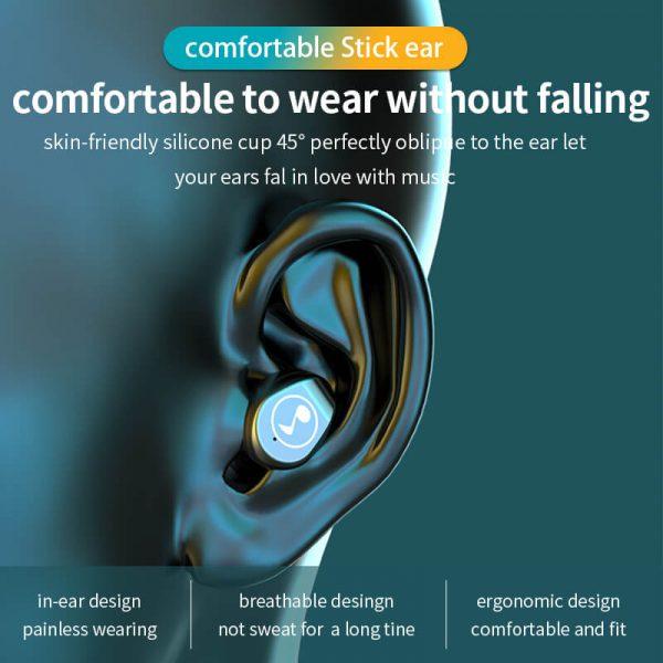 Fingerprint Touch Smart Headset In Ear Headphone Stereo Hifi Earphone Wireless Waterproof Headset (5)