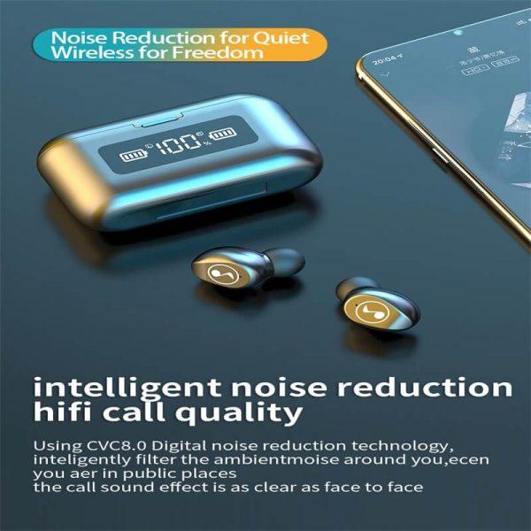 Fingerprint Touch Smart Headset In Ear Headphone Stereo Hifi Earphone Wireless Waterproof Headset (7)
