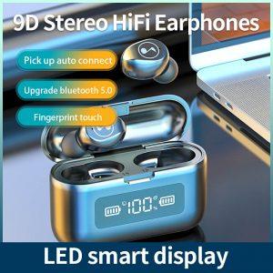 Fingerprint Touch Smart Headset In Ear Headphone Stereo Hifi Earphone Wireless Waterproof Headset (8)