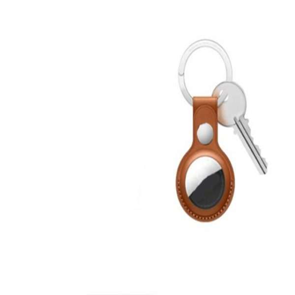 For Apple Airtag Leather Loop Holder Keyring Carry Case Air Tag Tracker Air Tag 1 (1) 副本