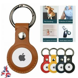 For Apple Airtag Leather Loop Holder Keyring Carry Case Air Tag Tracker Air Tag (12)