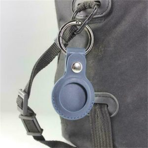 For Apple Airtag Leather Loop Holder Keyring Carry Case Air Tag Tracker Air Tag (3)