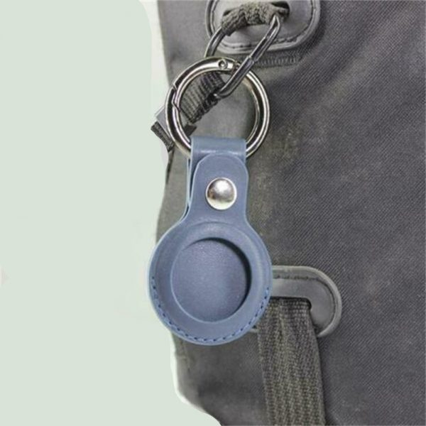 For Apple Airtag Leather Loop Holder Keyring Carry Case Air Tag Tracker Air Tag 3 1 副本