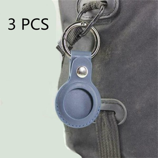 For Apple Airtag Leather Loop Holder Keyring Carry Case Air Tag Tracker Air Tag 3 1 副本 副本