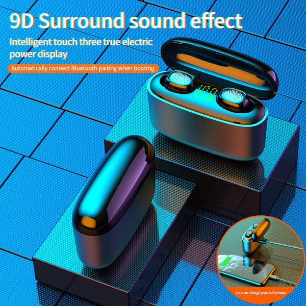 G5s New Headset Wireless Bluetooth Call In Ear Digital Display Black Technology Wireless Headset (2)