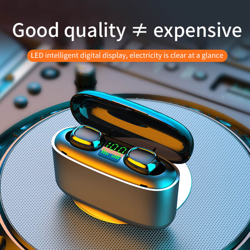 G5s New Headset Wireless Bluetooth Call In Ear Digital Display Black Technology Wireless Headset (5)