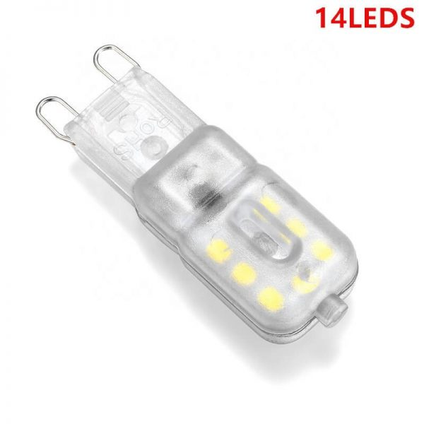 G9 Corn Light Cold White Light 3w 5w Mini Led Halogen Bulb Milky Transparent (6)