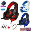 Gaming Headset Mic Led 3.5mm Headphones Stereo Surround Ps5 Ps4 Xbox One Ipad Uk (1)