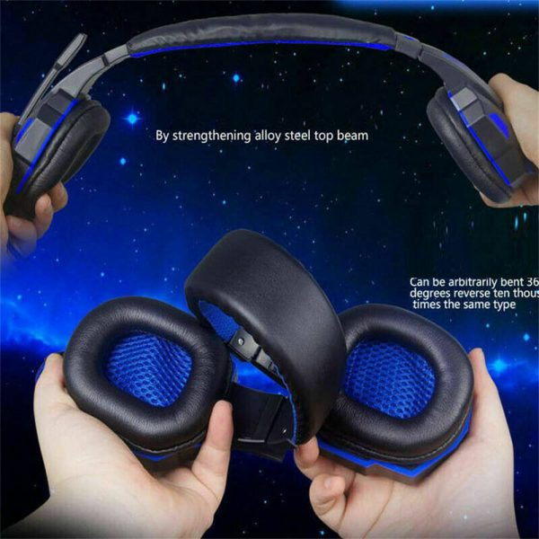 Gaming Headset Mic Led 3.5mm Headphones Stereo Surround Ps5 Ps4 Xbox One Ipad Uk (7)