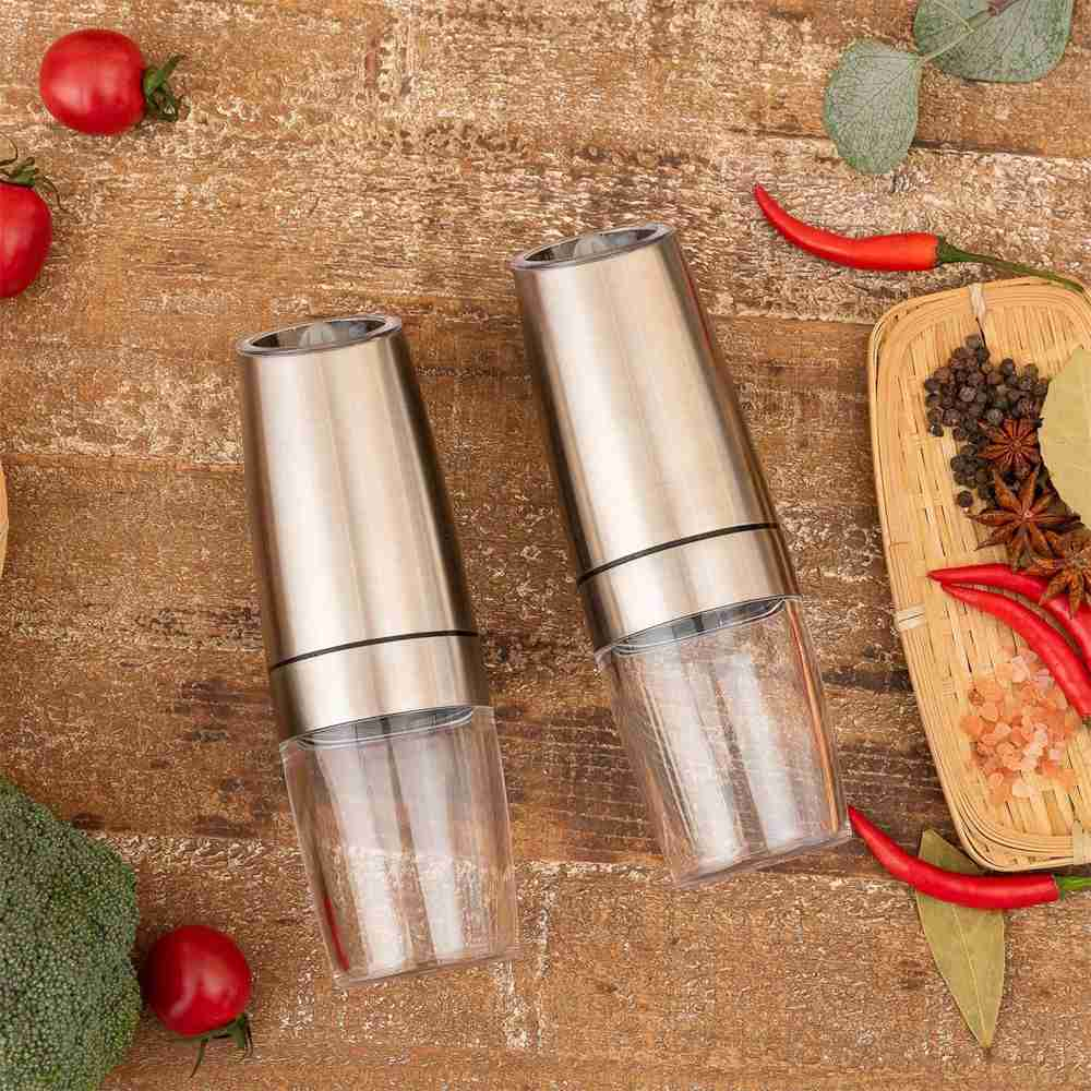 Gravity Electric Salt Or Pepper Mill Shaker Grinder Adjustable Battery Operated (14)
