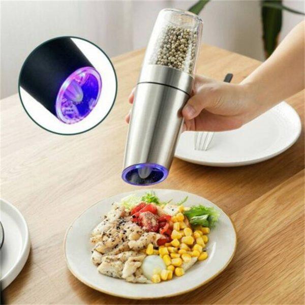 Gravity Electric Salt Or Pepper Mill Shaker Grinder Adjustable Battery Operated (16)