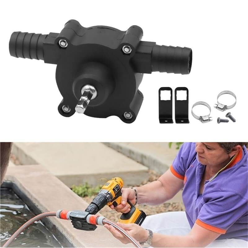 Hand Electric Drill Drive Pump Centrifugal Water Pump Household Small Pumps (3)
