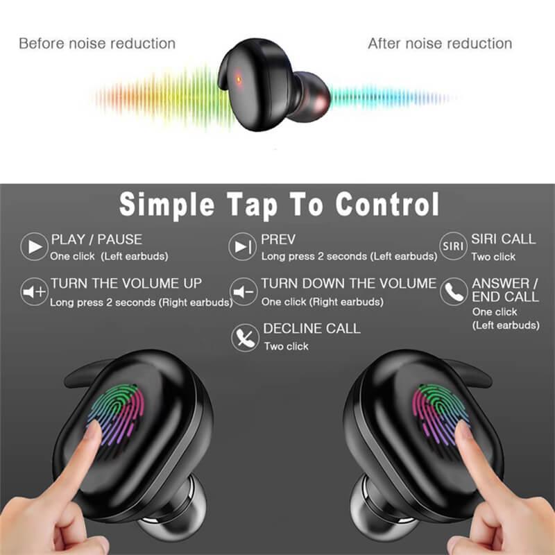 Headphone True Stereo Earphones Intelligent Earphones Hot Selling Waterproof Earphone (6)