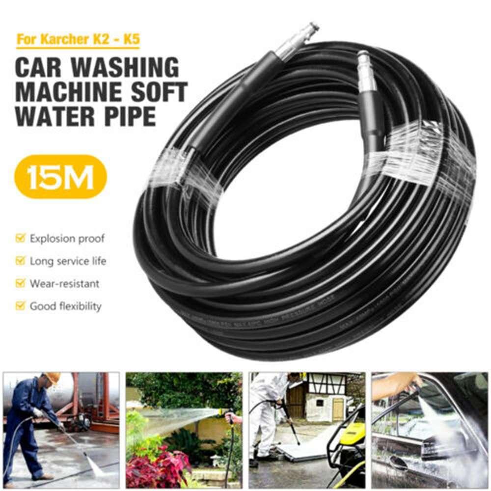 High Pressure 15m Karcher Washer Extension Hose Water Clean Pipe K2 K3 K4 K5 K7 (1)