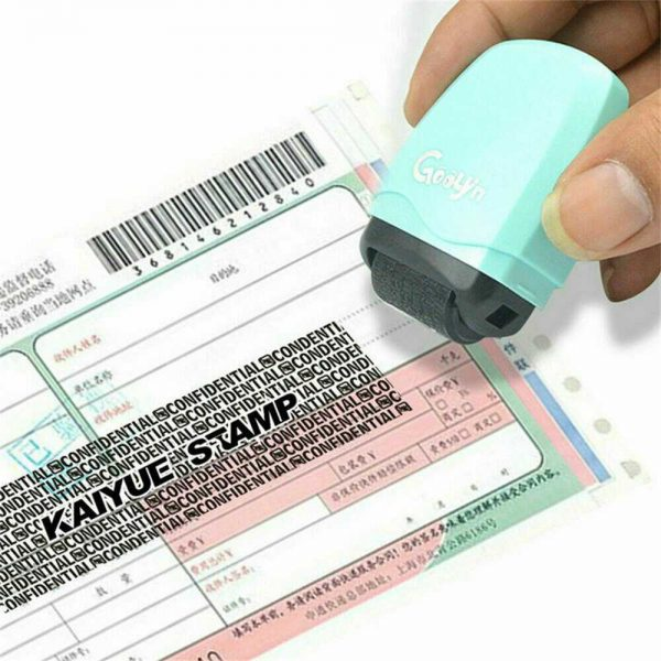 Identity Theft Protection Roller Stamp Privacy Confidential Data Guard Your Id (3)