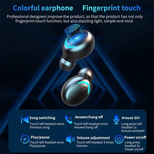 In Ear Wireless Bluetooth Headset Outdoor Sports Wireless Headset Mini Waterproof Ear Phones (8)