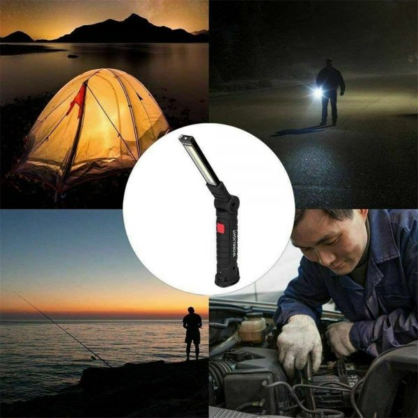 Led Cob Rechargeable Work Light Magnetic Torch Flexible Inspection Lamp Cordless (11)