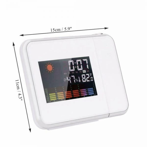Led Digital Projection Alarm Clock Weather Thermometer Calendar Backlight Snooze (11)