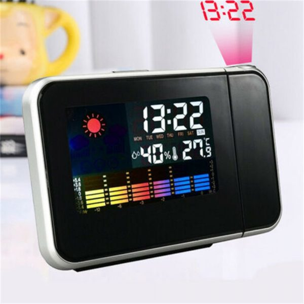 Led Digital Projection Alarm Clock Weather Thermometer Calendar Backlight Snooze (2)