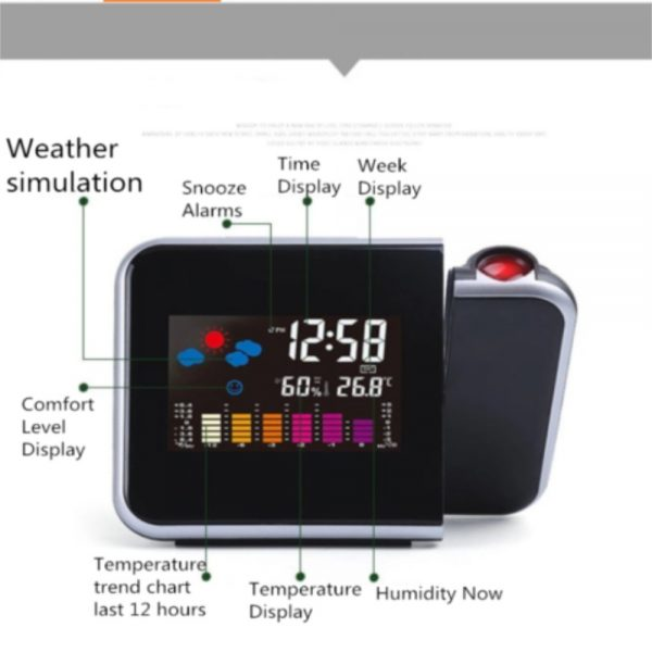Led Digital Projection Alarm Clock Weather Thermometer Calendar Backlight Snooze (5)