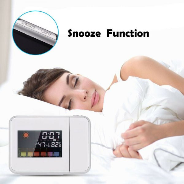 Led Digital Projection Alarm Clock Weather Thermometer Calendar Backlight Snooze (9)