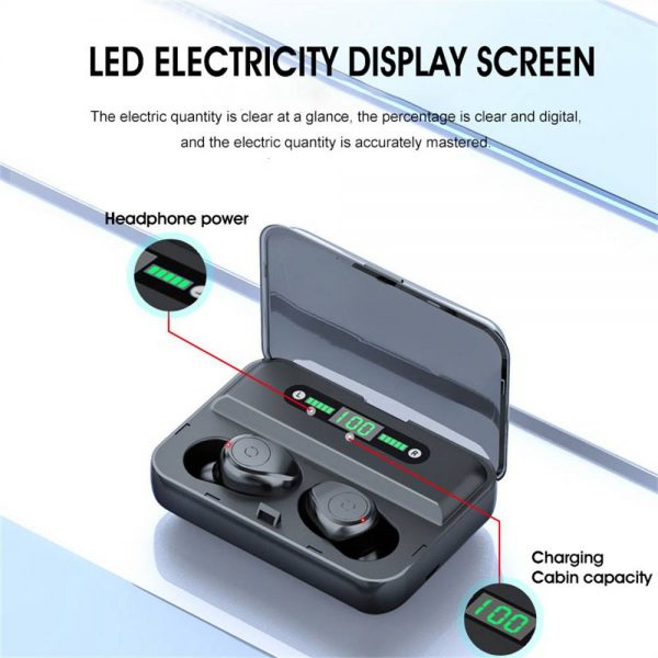Led Display Earphones 8d Stereo Surround Waterproof Headphones Tws 5.0 Earbuds (11)