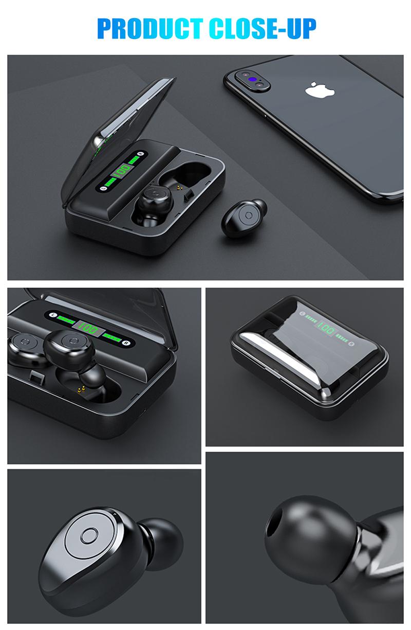 Led Display Earphones 8d Stereo Surround Waterproof Headphones Tws 5.0 Earbuds (16)