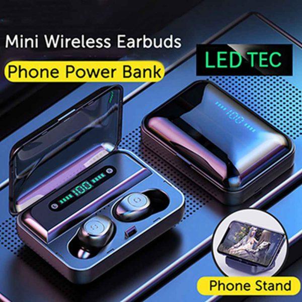 Led Display Earphones 8d Stereo Surround Waterproof Headphones Tws 5.0 Earbuds (2)
