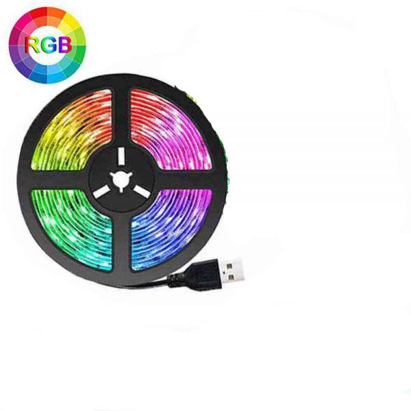 Led Strip Lights 5050 Rgb Colour Changing Tape Under Cabinet Kitchen Tv Usb 1 1 副本