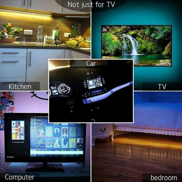 Led Strip Lights 5050 Rgb Colour Changing Tape Under Cabinet Kitchen Tv Usb (11)