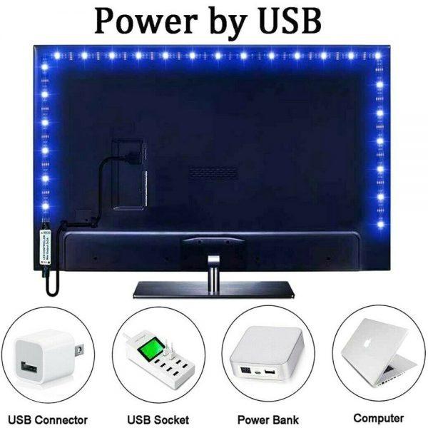 Led Strip Lights 5050 Rgb Colour Changing Tape Under Cabinet Kitchen Tv Usb (3)