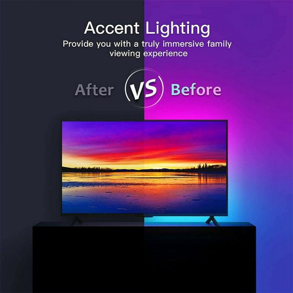 Led Strip Lights 5050 Rgb Colour Changing Tape Under Cabinet Kitchen Tv Usb (7)