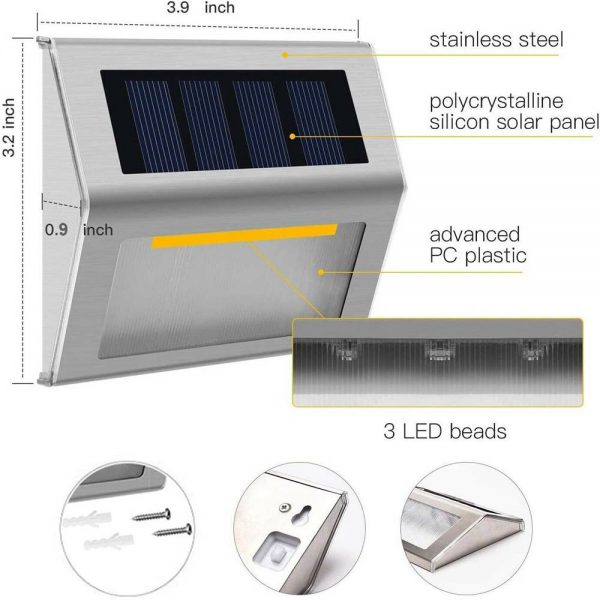 Led Solar Power Light Pir Motion Sensor Security Outdoor Garden Wall Lamp Uk (14)