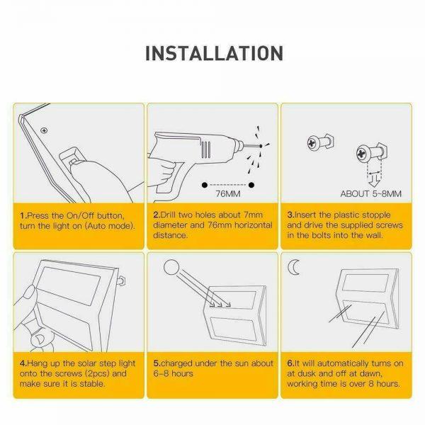 Led Solar Power Light Pir Motion Sensor Security Outdoor Garden Wall Lamp Uk (2)