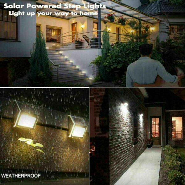 Led Solar Power Light Pir Motion Sensor Security Outdoor Garden Wall Lamp Uk (4)