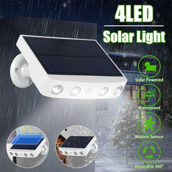 Led Solar Wall Street Light Pir Motion Sensor Outdoor Yard Park Waterproof Lamp (12)
