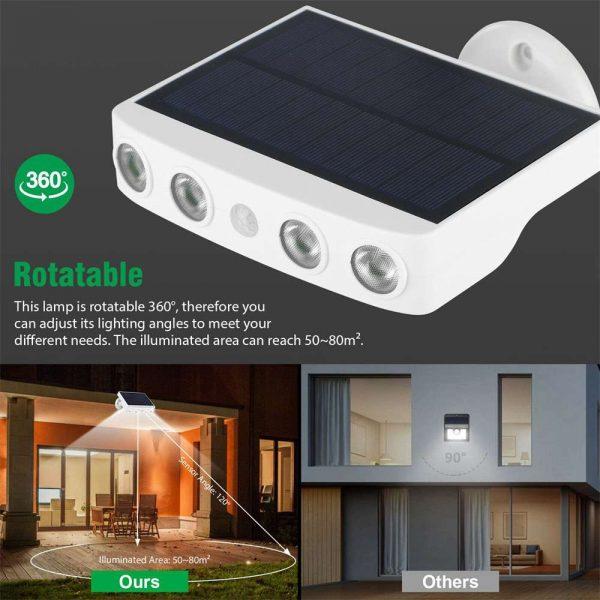 Led Solar Wall Street Light Pir Motion Sensor Outdoor Yard Park Waterproof Lamp (13)