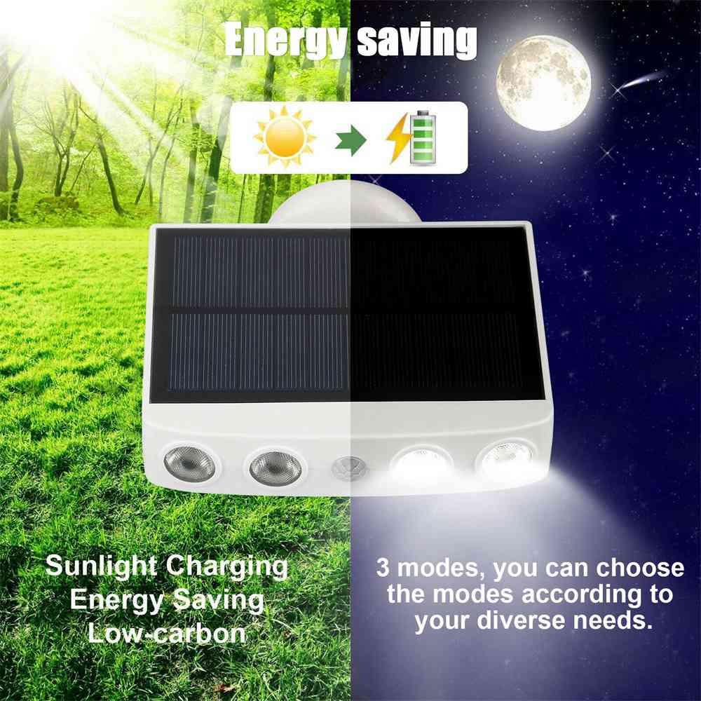 Led Solar Wall Street Light Pir Motion Sensor Outdoor Yard Park Waterproof Lamp (14)